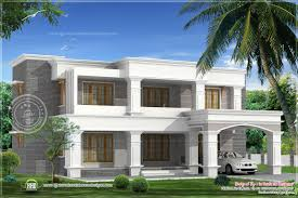 two different elevations of a luxury 4 bed room villa house