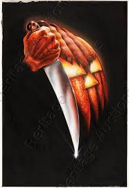 original poster art from carpenter u0027s halloween up for auction