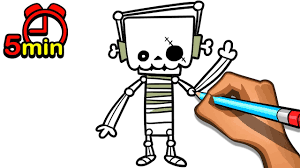 Skeleton For Halloween by Learn To Draw Skeleton For Halloween In 5 Minutes Easy Step