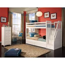 Doubleloftbunkbedwithstairs  Double Loft Bunk Bed For Kids - The brick bunk beds