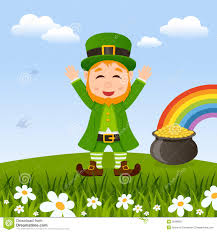 coloring page decorative leprechaun and gold 16 st patrick