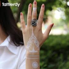 white henna tattoo hand patch snatched up store