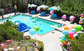 Home Party Decoration Decorations Pool Party Decorations Ideas Pool Party Decorations