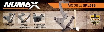 Best Flooring Nailer Numax Sfl618 3 In 1 Pneumatic Flooring Stapler Nailer With White