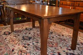 mission dining room table mission dining table 6 feet long arts crafts solid oak dining