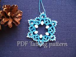 pdf tatting pattern snowflake ornament x tree