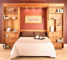 Natural Cherry Bedroom Furniture by Library Wall Bed Hardwood Artisans Handcrafted Bedroom Furniture