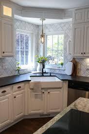 Farmhouse Kitchen Ideas Photos Best 25 Corner Kitchen Sinks Ideas On Pinterest White Kitchen