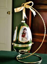 Mr Christmas Ornament - mr christmas green musical porcelain egg trinket box tree