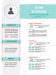 Keywords For Human Resources Resume Resume Cv Template Infographics Background And Element Can