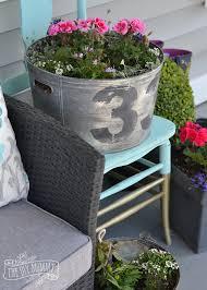 make a faux vintage galvanized planter u2013 outdoor extravaganza