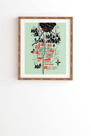 Twin Peaks Map Twin Peaks Map Framed Wall Art Robert Farkas