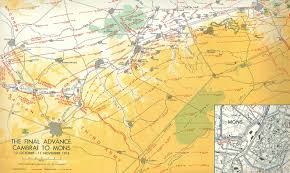 Map Of Belgium And Germany Canadian Route Of Remembrance In Belgium 1918