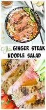 thai ginger steak noodle salad no spoon necessary