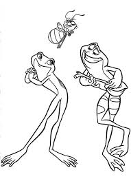 Naveen And Tiana In Frog Form Disney Princess And The Frog Princess And The Frog Colouring Pages