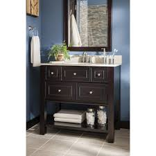 Bathroom Single Vanity by Shop Allen Roth Hagen Espresso Undermount Single Sink Birch