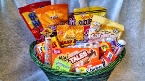 candy gift baskets retro candy gift basket on storenvy