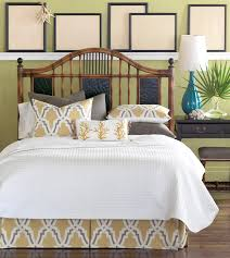 Eastern Accents Bedding Outlet Bedroom Savannah White Duvet Cover Queen With Tufted Headboard