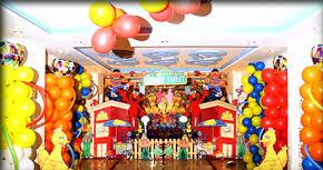 elmo party ideas sesame 1st birthday party ideas balloons decoration with