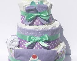 purple diaper cake etsy