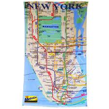 Ny City Subway Map New York City Subway Map Beach Towel Gift Man