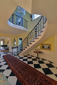 Black And White Checkered Area Rug Black And White Checkered Area Rug With Traditional Staircase St