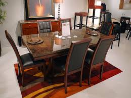 Stone Top Dining Room Table Modern Dining Table Set Rectangular Glass Top Dining Room Sets