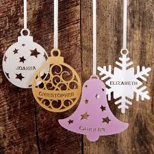 25 unique personalised tree decorations ideas on