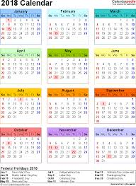 template 10 2018 calendar for word year at a glance 1 page