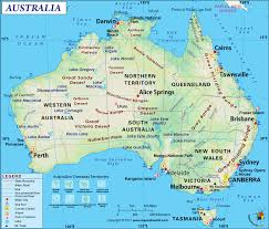Map Of The Southern States Of America by Australia Map Map Of Australia