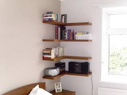 Corner Bookcase Ideas Diy Floating Corner Shelves