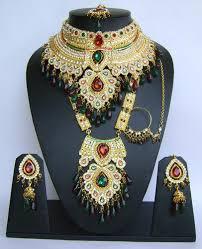 wedding necklace set red images Wedding bridal jewellery sets red green color wedding bridal jpg