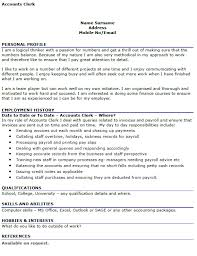 cover letter accounting clerk accounting clerk advice 18 resume