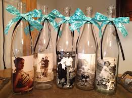 mod podge photos on wine bottles for center pieces but i would