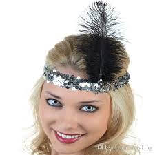 feather headbands indian feather headbands 1920 s flapper sequin charleston costume