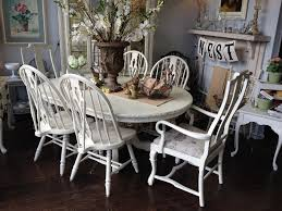 Painted Oak Dining Table And Chairs Can You Paint A Dining Room Table Createfullcircle Com
