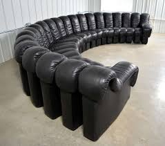 De Sede For Stendig DS NonStop Modular Sofa In Black Leather - Modular sofa design