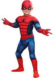 Childrens Spider Halloween Costume Amazon Spiderman Muscle Size Child 7 8 Clothing