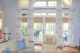 Completed Window Treatments Family Room - Family room window treatments