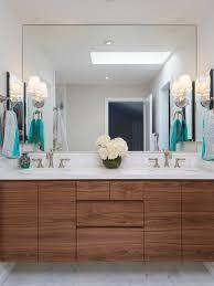 Walnut Bathroom Vanity by Modern Bathroom With Walnut Vanity Hex Floor Marble Waterfall
