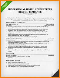 6 housekeeping resume character refence