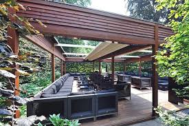 Backyard Pergola Ideas Awesome Modern Timber Pergola Design Complete With Patio Bench And