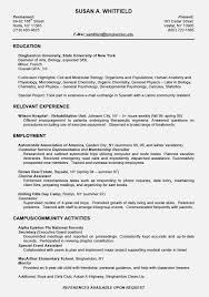 Resume Examples With No Job Experience by Exclusive Idea Biology Resume 12 Biology And Chemistry Student