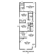 long house floor plans narrow houses floor plans house plan 81 13857 long and narrow by