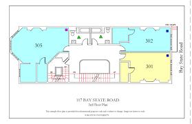 college dorm floor plans 117 bay state road housing boston university