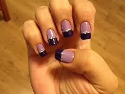 2 tone purple nail art gallery
