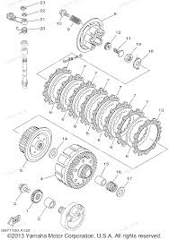 2002 yz125 yz125p yamaha motorcycle clutch diagram and parts