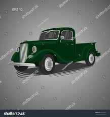 Old Ford Truck Vector - old retro pickup truck vector illustration stock vector 695753302
