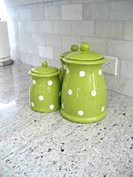 lime green kitchen canisters lime green canisters kitchen green polka dot canister set adds