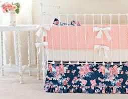 Coral Nursery Bedding Sets by Navy Floral Baby Bedding Lottie Da Baby Baby Bedding Nursery
